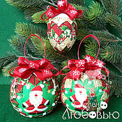 Подарки к праздникам handmade. Livemaster - original item Christmas balls in the art
