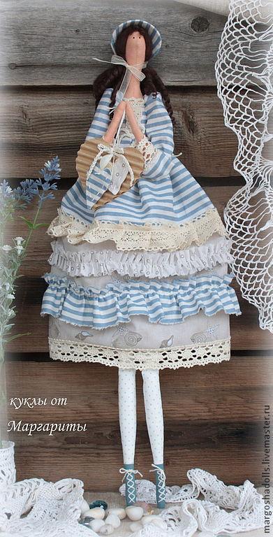 Куклы Тильды ручной работы. Ярмарка Мастеров - ручная работа. Купить Кукла тильда Луиза-Виктория.. Handmade. Голубой