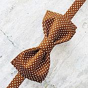 Аксессуары ручной работы. Ярмарка Мастеров - ручная работа Галстук-бабочка в мелкий горошек. Handmade.