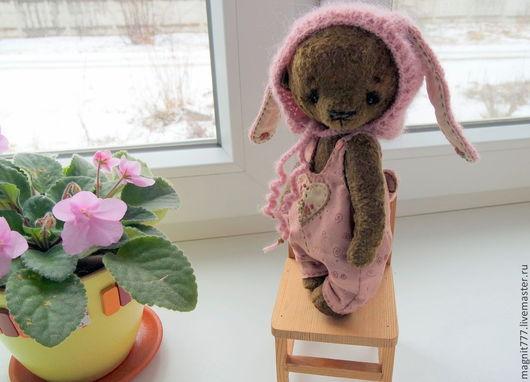 Мишки Тедди ручной работы. Ярмарка Мастеров - ручная работа. Купить Розовый Подснежничек. Handmade. Розовый, Плюшевый мишка, заяц