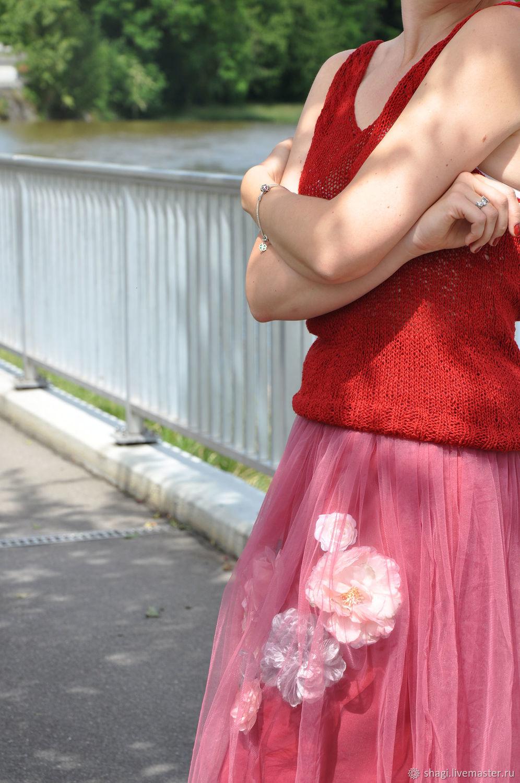 Юбка ручной работы из фатина с цветами, Юбки, Цюрих, Фото №1