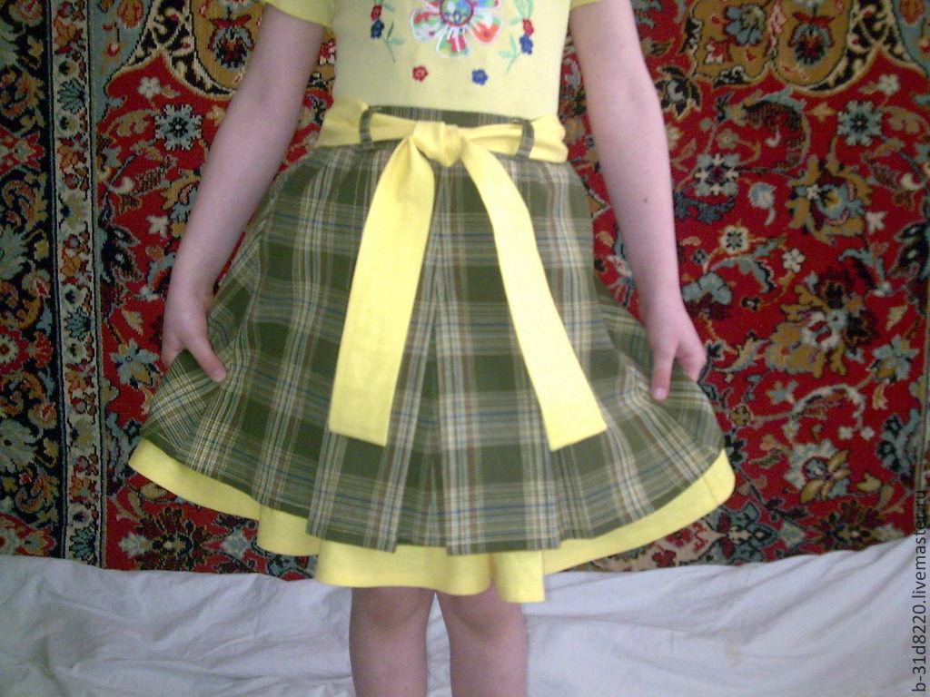 Как сшить юбку для девочки : мастер-класс. Как пошить юбку для девочки
