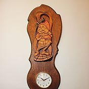 """Для дома и интерьера ручной работы. Ярмарка Мастеров - ручная работа Часы """"Гном"""". Handmade."""