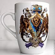 """Посуда ручной работы. Ярмарка Мастеров - ручная работа Кружка """"Альянс"""" (World of Warcraft) (0142). Handmade."""
