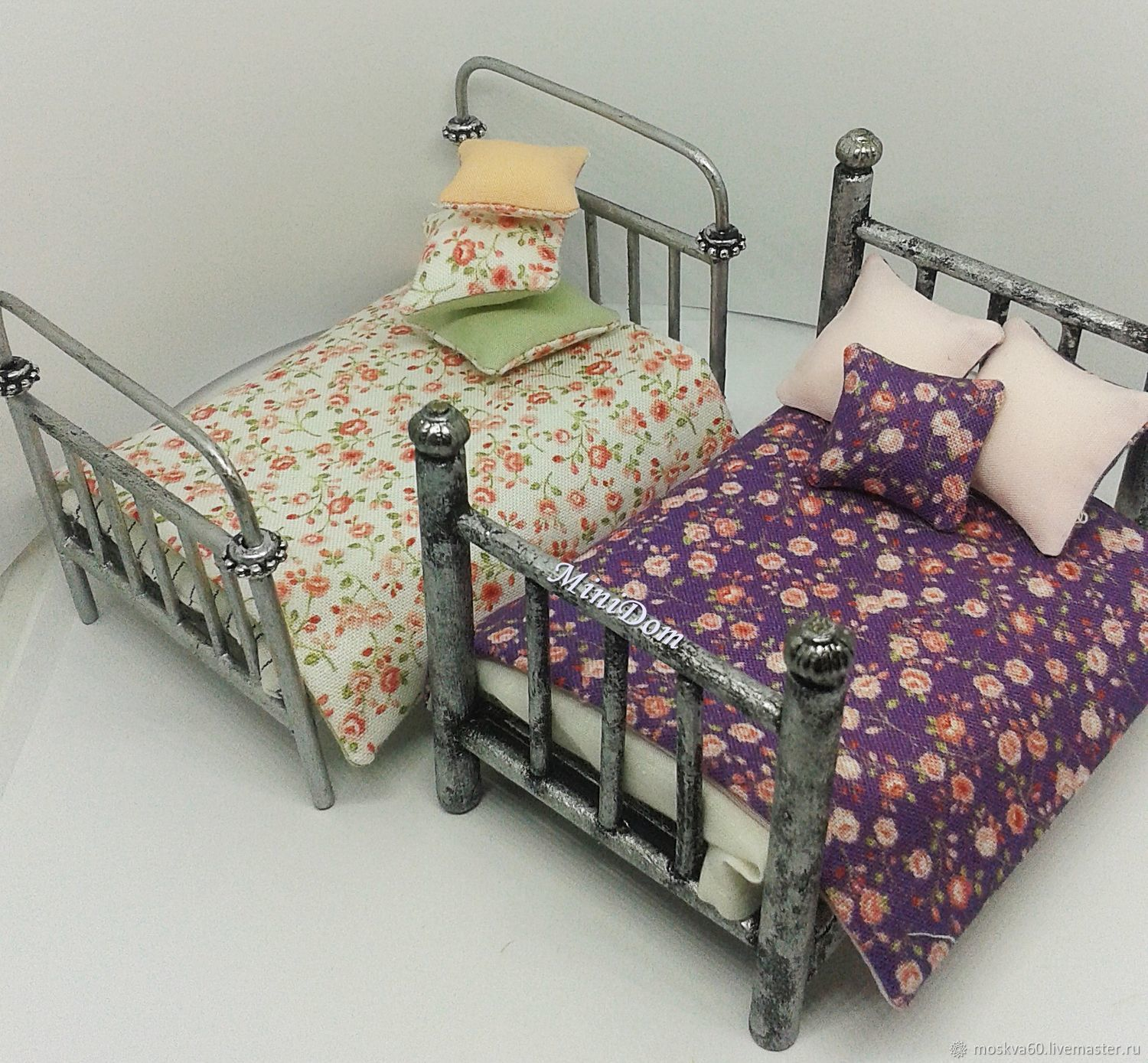 Granny S Bed And Mattress For Dollhouse Miniatures In Dollhouse