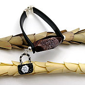 Украшения handmade. Livemaster - original item Stylish rubber bracelet c crackle agate with quartz druzey. Handmade.
