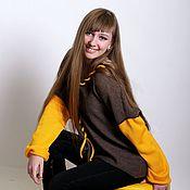 Одежда ручной работы. Ярмарка Мастеров - ручная работа Двухцветный джемпер. Handmade.