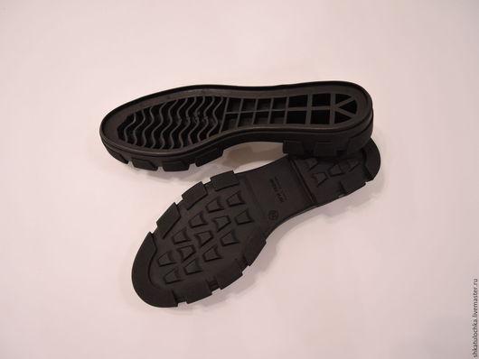 Валяние ручной работы. Ярмарка Мастеров - ручная работа. Купить Подошва Черная высокая для изготовления обуви женская, 1 пара. Handmade.