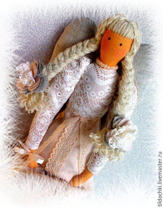 Куклы Тильды ручной работы. Ярмарка Мастеров - ручная работа. Купить Ангел - хранитель домашнего уюта_в стиле Тильда_ цвет_топленое молоко. Handmade.