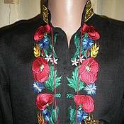 """Одежда ручной работы. Ярмарка Мастеров - ручная работа мужская сорочка """" Маки"""". Handmade."""