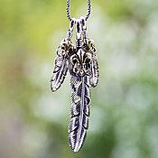 Украшения handmade. Livemaster - original item Pendant of 925 pen with royal lily. Handmade.