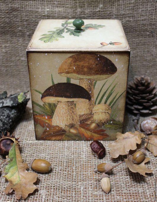 """Корзины, коробы ручной работы. Ярмарка Мастеров - ручная работа. Купить Короб """"По грибы """". Handmade. Разноцветный"""