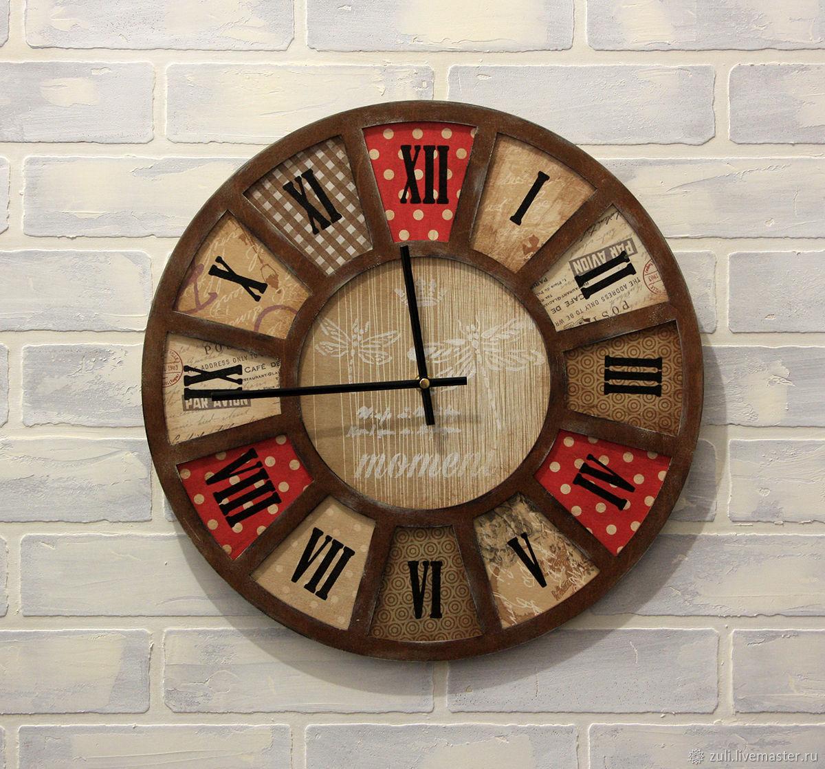 Wall clock 'Country' 40 cm, Watch, Podolsk,  Фото №1