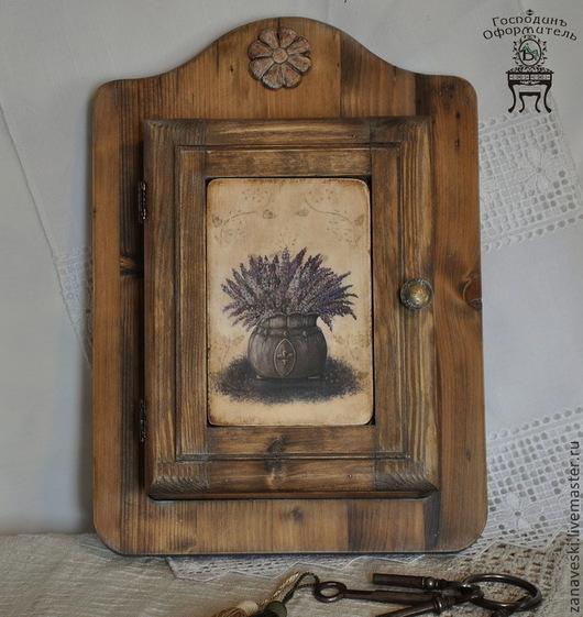 """Прихожая ручной работы. Ярмарка Мастеров - ручная работа. Купить Ключница """"Где-то в Провансе..."""". Handmade. Коричневый, деревянный"""