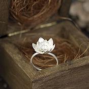 Украшения ручной работы. Ярмарка Мастеров - ручная работа Лотос - кольцо с крупным цветком. Handmade.