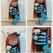 Куклы и игрушки ручной работы. Ярмарка Мастеров - ручная работа Интерьерная текстильная кукла большеножка Леночка. Handmade.