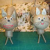 Для дома и интерьера ручной работы. Ярмарка Мастеров - ручная работа влюбленные коты. Handmade.
