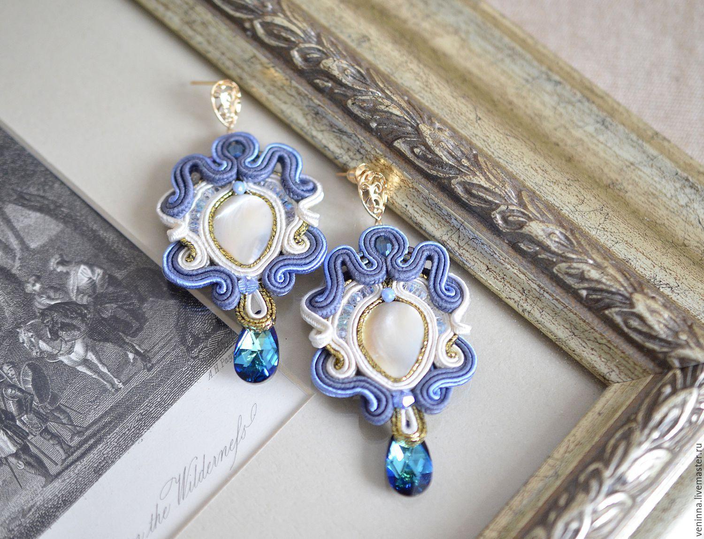 Soutache earrings 'Patterns', Earrings, Moscow,  Фото №1
