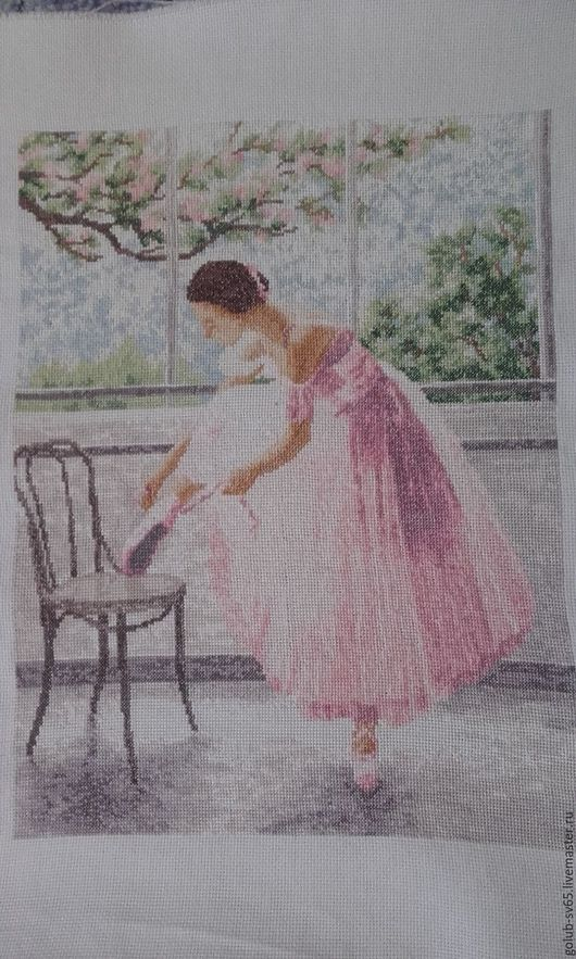 Люди, ручной работы. Ярмарка Мастеров - ручная работа. Купить Дебют. Handmade. Розовый, балерины, картина для интерьера