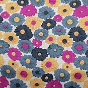 Ткани ручной работы. Ярмарка Мастеров - ручная работа ткань штапель Нежные цветочки -50%. Handmade.