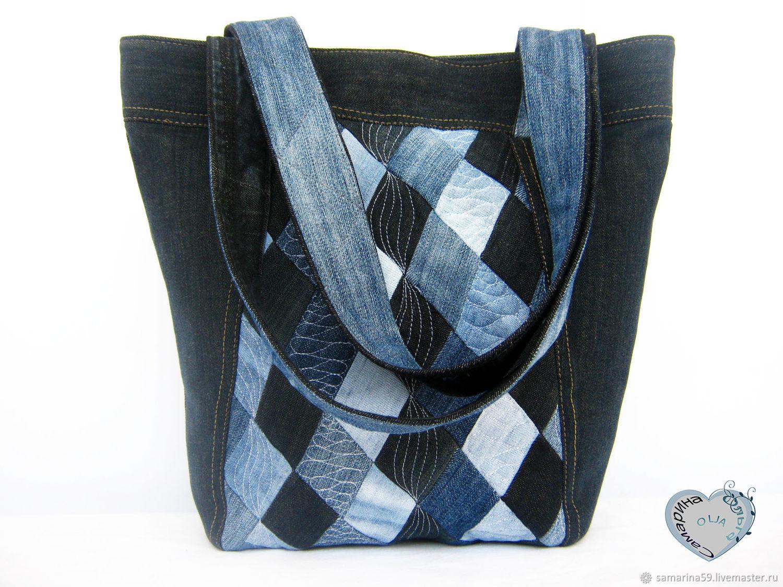 Handbags Handmade Livemaster Bag Boho Denim Shoulder Casual