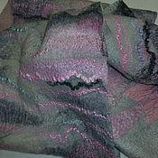 Аксессуары ручной работы. Ярмарка Мастеров - ручная работа Валяный шарф-снуд Пепельно-розовый Париж. Handmade.