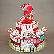 Сувениры и подарки ручной работы. Ярмарка Мастеров - ручная работа Открывается !Торт из киндеров в школу садик на выпускной день рождения. Handmade.