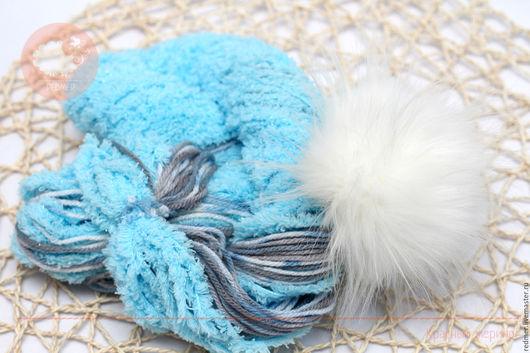 Вязание ручной работы. Ярмарка Мастеров - ручная работа. Купить Комплект пряжа и помпон Yarn Art Nancy Baby. Handmade.