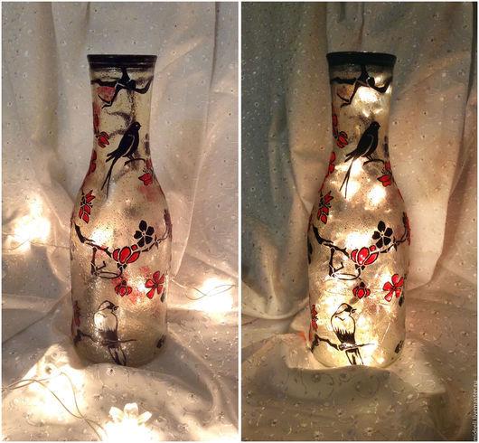 """Вазы ручной работы. Ярмарка Мастеров - ручная работа. Купить Ваза-светильник """"Сакура"""". Handmade. Ваза, стекло"""