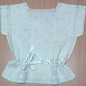 Одежда ручной работы. Ярмарка Мастеров - ручная работа Блуза из белого льна. Handmade.