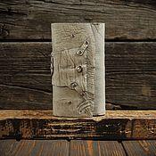 Кошельки ручной работы. Ярмарка Мастеров - ручная работа Бежевый кошелёк из сыромятной кожи. Handmade.
