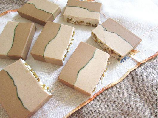 Мыло ручной работы. Ярмарка Мастеров - ручная работа. Купить Герань, сандал и мандарин мыло с нуля с жёлтой глиной. Handmade.