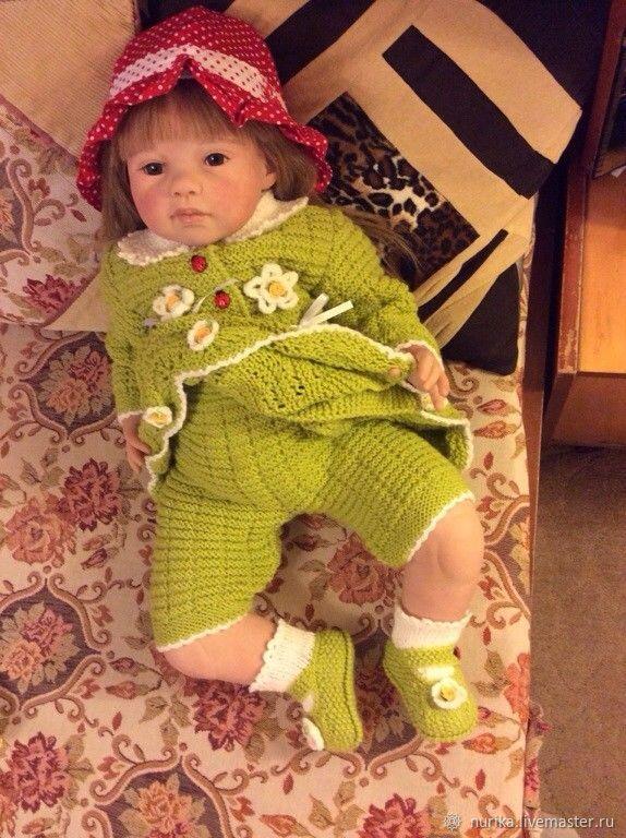 Комплект: платье, штанишки и пинетки на 1 год