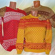 Одежда ручной работы. Ярмарка Мастеров - ручная работа Тату-свитер - с зимним орнаментом  (для всей семьи). Handmade.