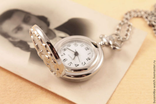 Для украшений ручной работы. Ярмарка Мастеров - ручная работа. Купить Часы-подвеска №16 Серебристая бабочка. Handmade.