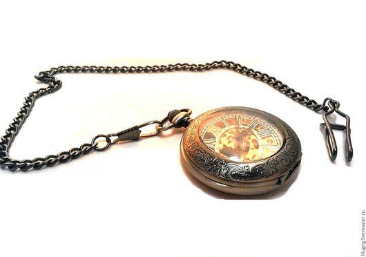 """Часы ручной работы. Ярмарка Мастеров - ручная работа. Купить Часы механические карманные """"Быстрее секунды"""". Handmade. Комбинированный"""