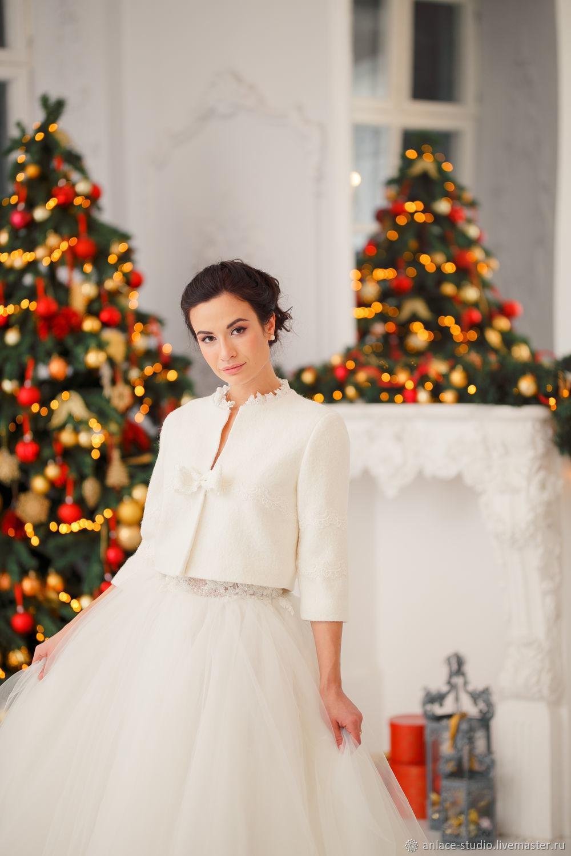 Свадебное Пальто Белое Женское Пальто «Вика», Накидки, Москва,  Фото №1