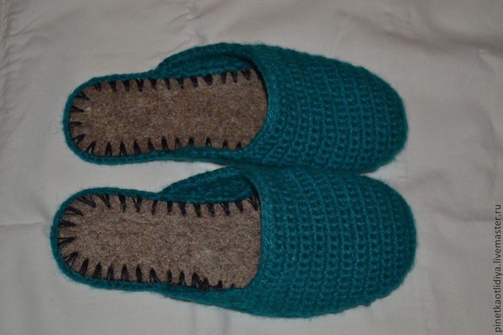 Тапочки вязаные мужские: Мужские носки и тапки спицами или ...