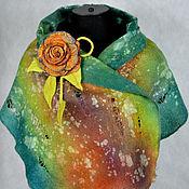 """Аксессуары ручной работы. Ярмарка Мастеров - ручная работа шарф валяный """"Вечер в тропиках"""". Handmade."""