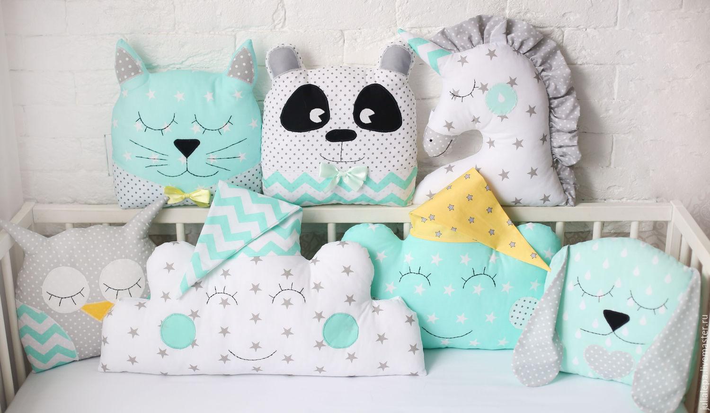 Подушки в детскую кроватку своими руками выкройки