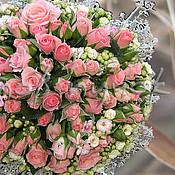 Свадебный салон ручной работы. Ярмарка Мастеров - ручная работа Свадебный букет из живых цветов. Handmade.