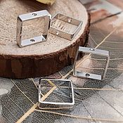 Материалы для творчества handmade. Livemaster - original item Frame beads 10x2,5. 9 mm 3377 mm EXT. dim. platinum (Ref. ). Handmade.