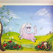 Дизайн и реклама ручной работы. Ярмарка Мастеров - ручная работа Роспись стен в детской комнате Волшебные сны. Handmade.