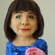 Портретные куклы ручной работы. Ярмарка Мастеров - ручная работа. Купить Портретная кукла Леди в синем. Handmade. Тёмно-синий