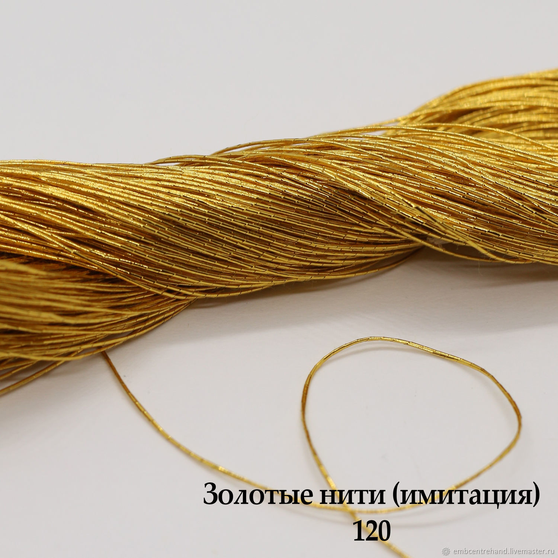 Золотые нити (имитация) 0,8 мм, Материалы, Москва, Фото №1