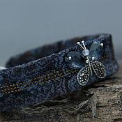 Украшения handmade. Livemaster - original item Bracelet Velvet Silver Swarovski Butterfly Severny modern. Handmade.