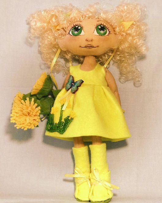 """Коллекционные куклы ручной работы. Ярмарка Мастеров - ручная работа. Купить Кукла текстильная """"Одуванчик"""". Handmade. Кукла, текстильная кукла"""