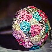Цветы и флористика ручной работы. Ярмарка Мастеров - ручная работа Свадебный брошь букет. Handmade.