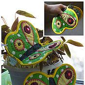 Для дома и интерьера ручной работы. Ярмарка Мастеров - ручная работа прихватки Бабочки. Handmade.