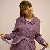 """Одежда ручной работы. Ярмарка Мастеров - ручная работа Вязаный пальто-кардиган """"Сиреневая дымка"""". Handmade."""